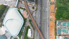 Flyg- sikt av Bangsar, Malaysia lager videofilmer
