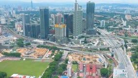 Flyg- sikt av Bangsar, Malaysia stock video