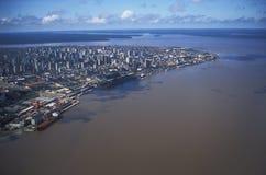Flyg- sikt av Belem, Brasilien Royaltyfri Bild