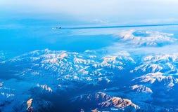 Flyg- sikt av berg i nordliga Anatolien, Turkiet Royaltyfri Bild