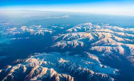 Flyg- sikt av berg i nordliga Anatolien, Turkiet Arkivbild