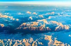 Flyg- sikt av berg i nordliga Anatolien, Turkiet Fotografering för Bildbyråer