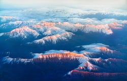 Flyg- sikt av berg i nordliga Anatolien, Turkiet Arkivfoton