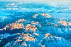 Flyg- sikt av berg i nordliga Anatolien, Turkiet Royaltyfria Bilder