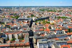 Flyg- sikt av Berlin, Tyskland Arkivfoto