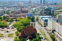 Flyg- sikt av Berlin, Tyskland Royaltyfria Bilder