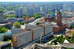 Flyg- sikt av Berlin, Tyskland Arkivbilder
