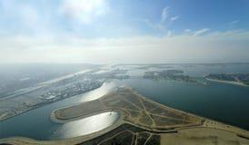 Flyg- sikt av beskickningfjärden, San Diego arkivfoton