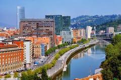 Flyg- sikt av Bilbao Royaltyfri Bild