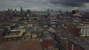 Flyg- sikt av Birmingham lager videofilmer