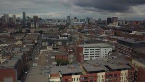 Flyg- sikt av Birmingham stock video