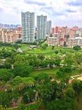 Flyg- sikt av Bishan-Ang Mo Kio Park, Singapoe Royaltyfria Bilder