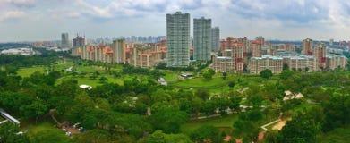 Flyg- sikt av Bishan-Ang Mo Kio Park, Singapoe royaltyfri foto