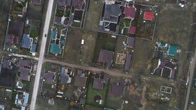Flyg- sikt av bostadsområden arkivfilmer