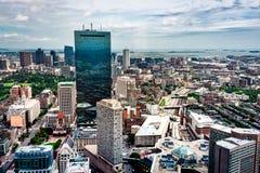 Flyg- sikt av Boston horisont fotografering för bildbyråer