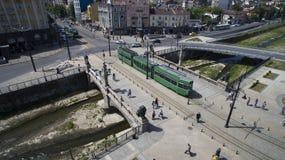 Flyg- sikt av bron för lejon` s, Sofia, Bulgarien arkivfoton