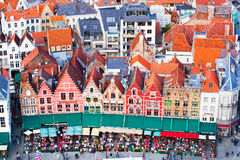 Flyg- sikt av Bruges Royaltyfri Fotografi