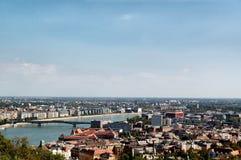 Flyg- sikt av Budapest Arkivbilder