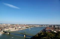 Flyg- sikt av Budapest Fotografering för Bildbyråer