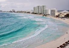 Flyg- sikt av Cancun, Mexico Royaltyfri Bild