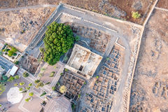Flyg- sikt av Capernaum, Galilee, Israel Royaltyfri Foto