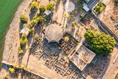 Flyg- sikt av Capernaum, Galilee, Israel Royaltyfri Fotografi