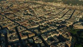 Flyg- sikt av cityscape av den Rome mitten, Italien stock video