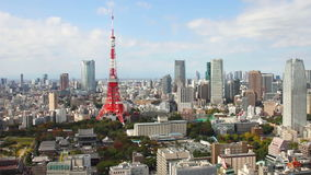 Flyg- sikt av cityscape tokyo - HD stock video