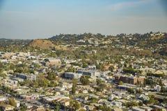 Flyg- sikt av cityscapen av Highland Park Arkivbild