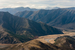 Flyg- sikt av Clarence River Valley Arkivbild