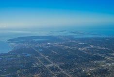 Flyg- sikt av clearwater Arkivfoto