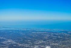 Flyg- sikt av clearwater Arkivbild
