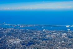 Flyg- sikt av clearwater arkivfoton