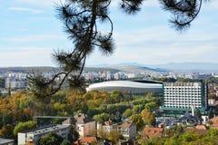 Flyg- sikt av Cluj Napoca Royaltyfri Fotografi