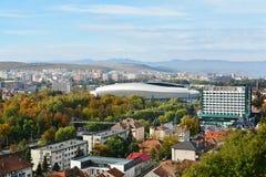 Flyg- sikt av Cluj Napoca Royaltyfri Foto