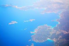 Flyg- sikt av costasmeraldakustlinjen Royaltyfri Foto