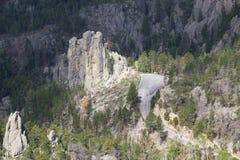 Flyg- sikt av Custer State Park, SD arkivfoto