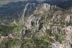 Flyg- sikt av Custer State Park, SD fotografering för bildbyråer