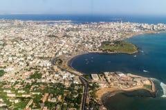 Flyg- sikt av Dakar Arkivfoton