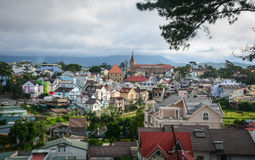 Flyg- sikt av Dalat, Vietnam Fotografering för Bildbyråer