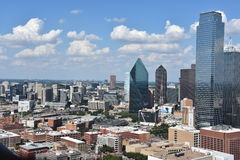 Flyg- sikt av Dallas, Texas arkivbilder