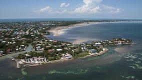 Flyg- sikt av de Florida tangenterna Arkivbild