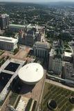 Flyg- sikt av delstatsparlament i Albany, New York Arkivfoto