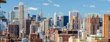 Flyg- sikt av den övreöstliga sidan, New York City, USA royaltyfria foton