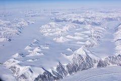 Flyg- sikt av den arktiska cirkeln Arkivfoto