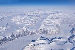 Flyg- sikt av den arktiska cirkeln Royaltyfri Bild