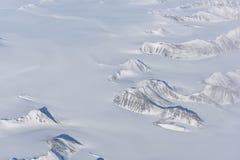 Flyg- sikt av den arktiska cirkeln Fotografering för Bildbyråer