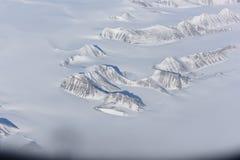 Flyg- sikt av den arktiska cirkeln Arkivbilder