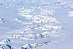 Flyg- sikt av den arktiska cirkeln Royaltyfria Bilder