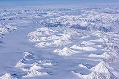 Flyg- sikt av den arktiska cirkeln Royaltyfri Foto